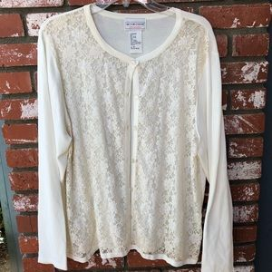 XL Victor Costa Occasion Lace Sweater
